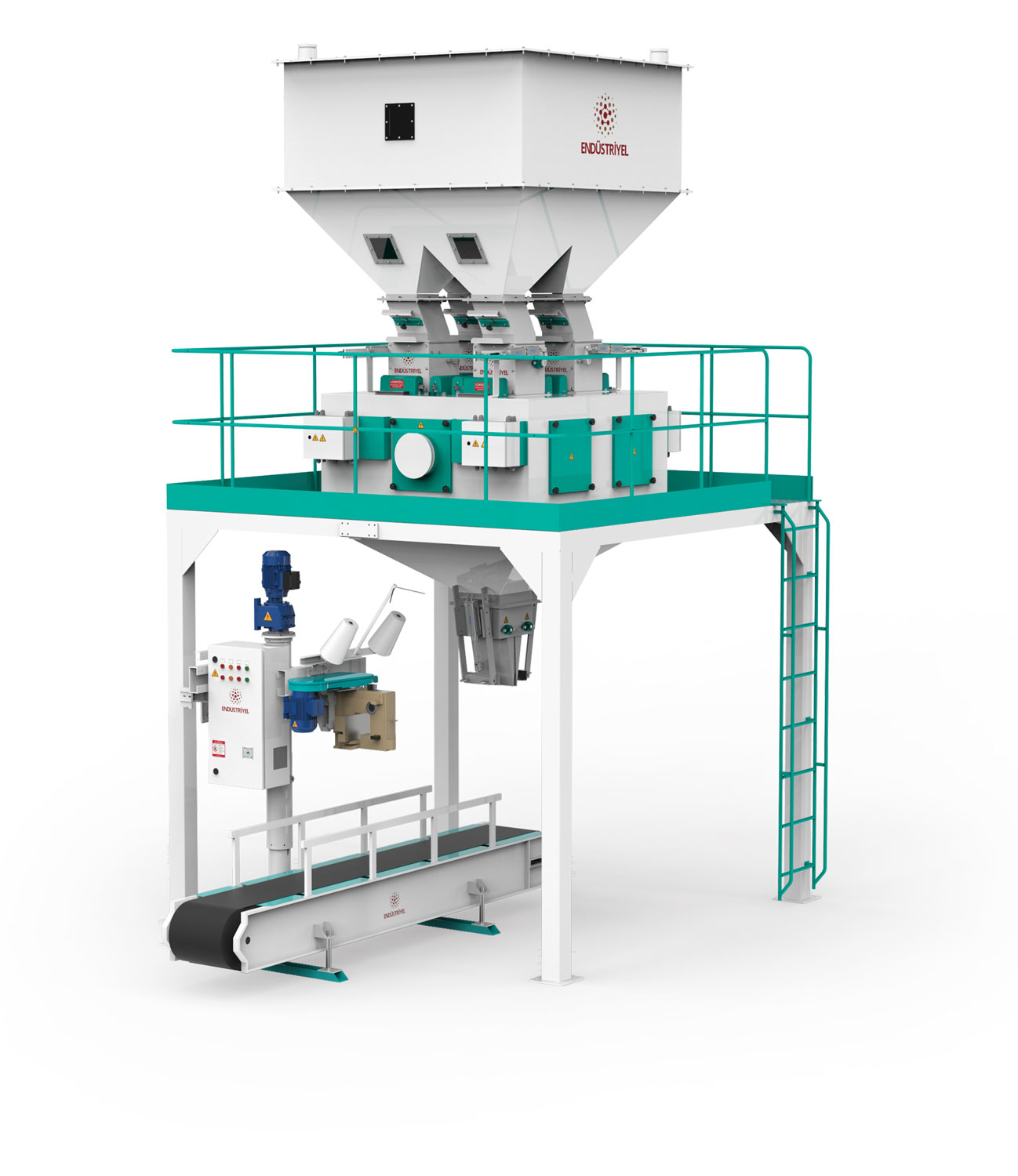 Pulses Packaging Machine With Four Weigh Hoppers & Single Station 10/ 25/50 Kg