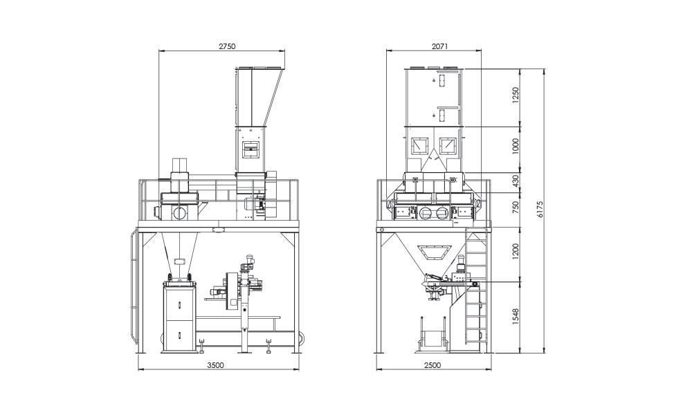 Cift-Tartim-Tek-istasyon-Un-Paketleme-Makinasi/Cift-Tartim-Tek-istasyon-Un-Paketleme-Makinasi-Teknik-Cizim