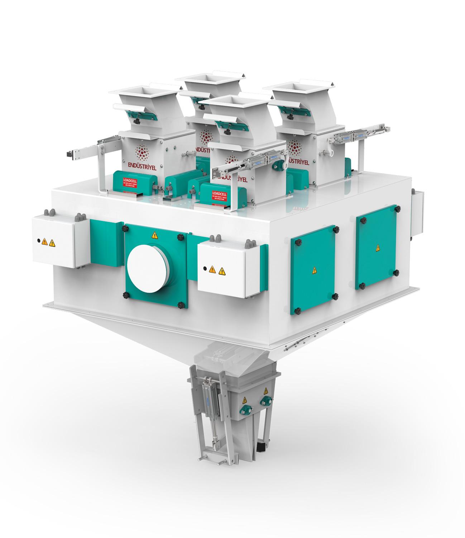 Dört Tartım Tek İstasyon Bakliyat Paketleme Makinası 10/25/50 Kg Detay 0