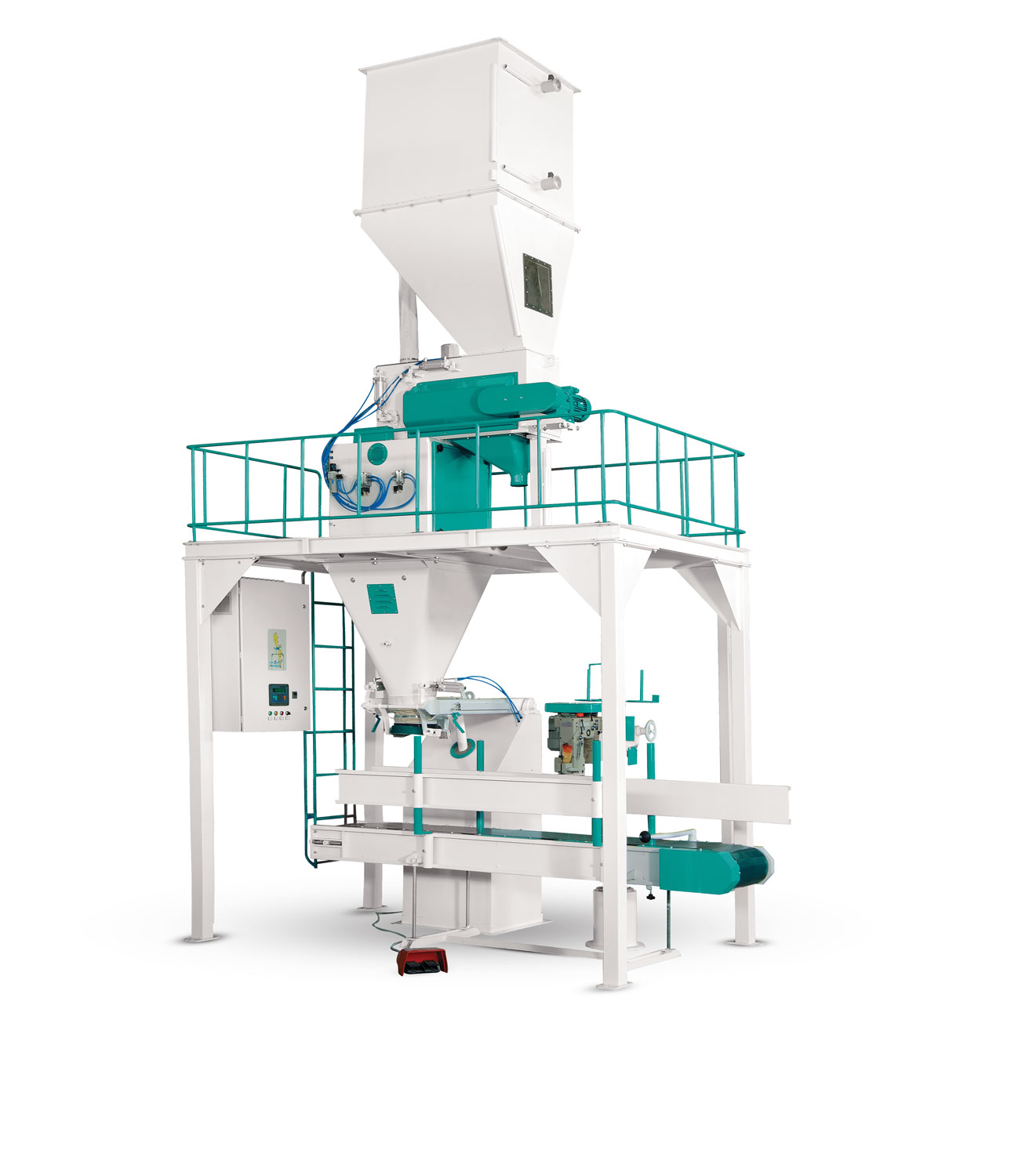 Feed Bagging Machine With Double Weigh Hopper and Single Station 25/50 Kg