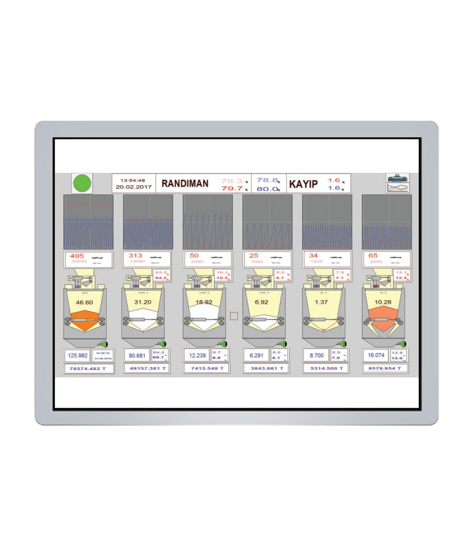 Merkezi PLC Kontrollü Randıman Kantarları – Tubex Tip 40/80/120 Lt. Detay 3